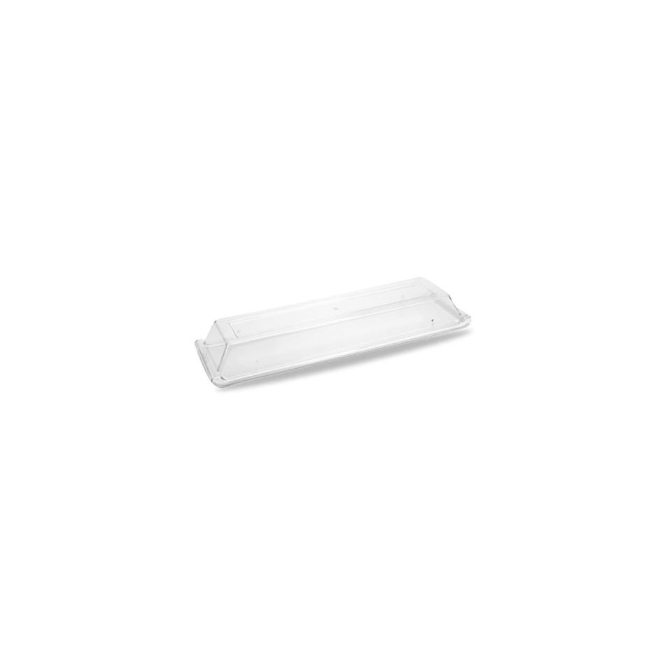 Coperchio vassoio Linea Buffet Churchill rettangolare in policarbonato cm 46x10