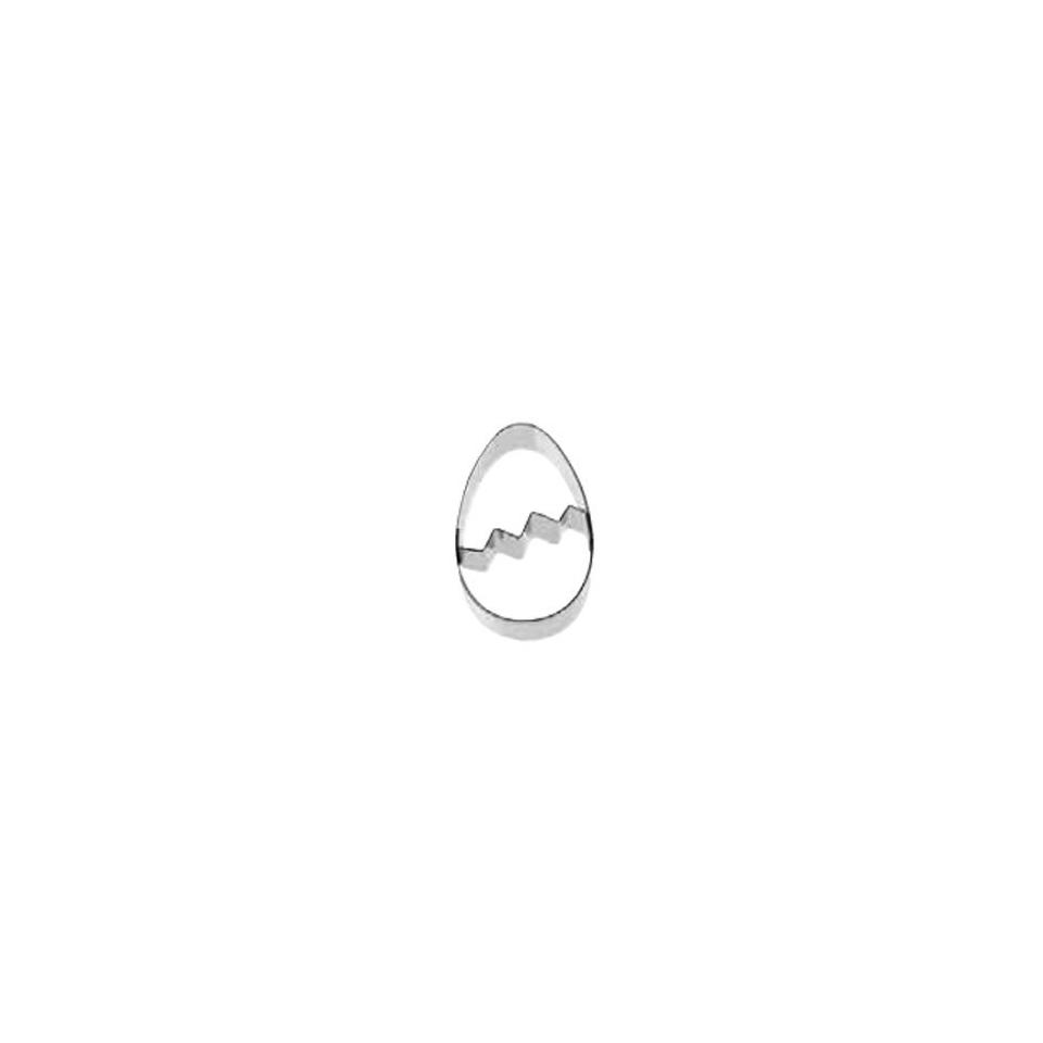 Tagliapasta uovo di Pasqua in acciaio inox cm 8