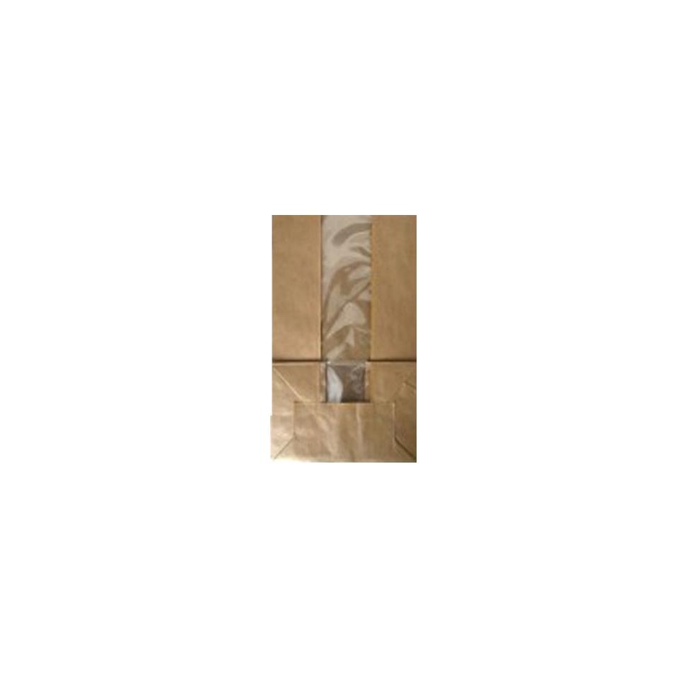 Sacchetti con finestra in carta marrone cm 18x27x11