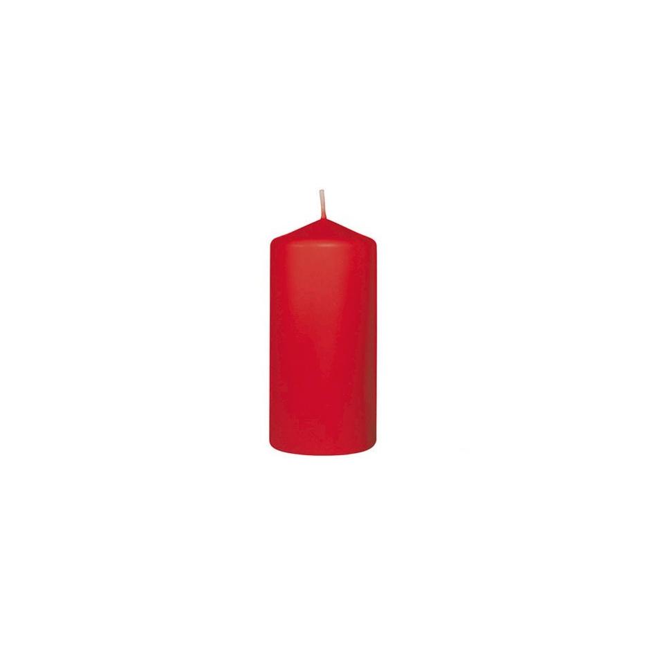 Candele Duni Pillar rosso 6 pezzi cm 13x6