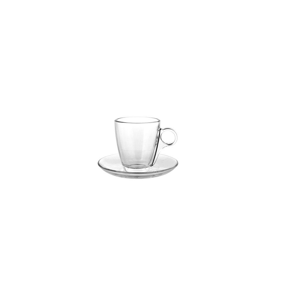 Tazza caffè con piatto Cherie Pasabache in vetro