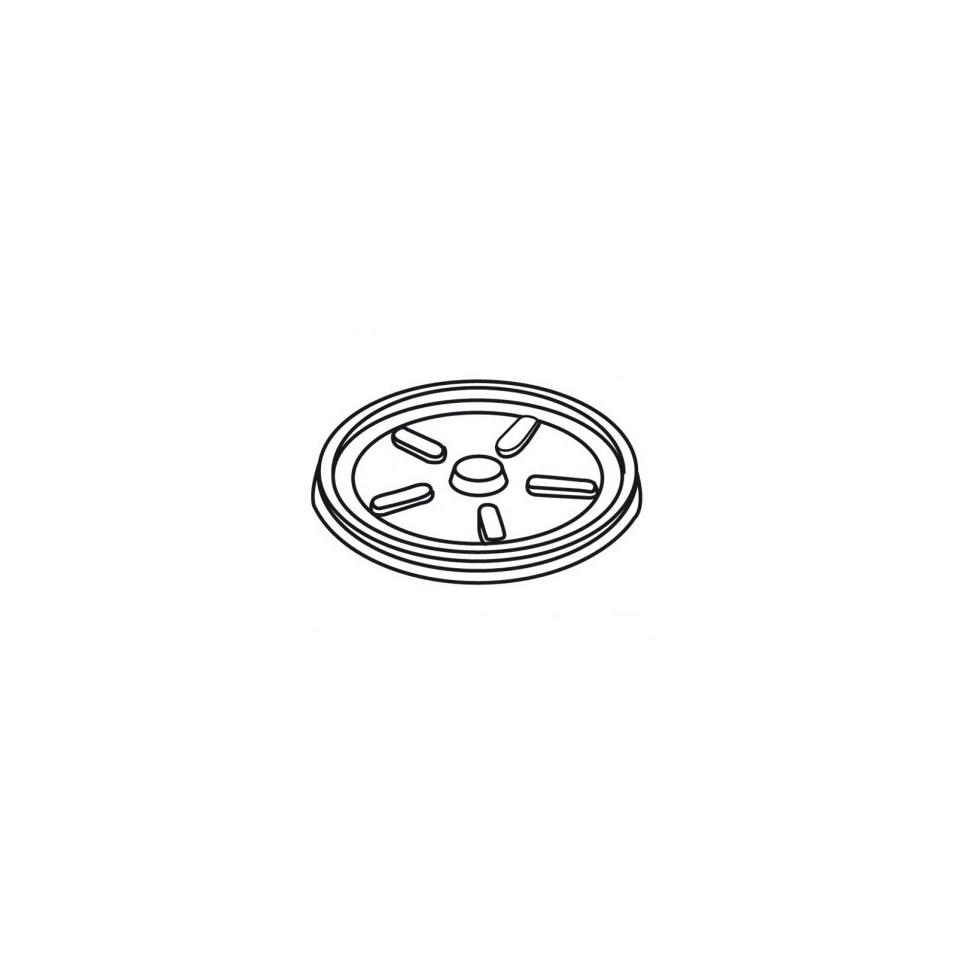 Coperchio monouso basso in polistirene trasparente cm 12