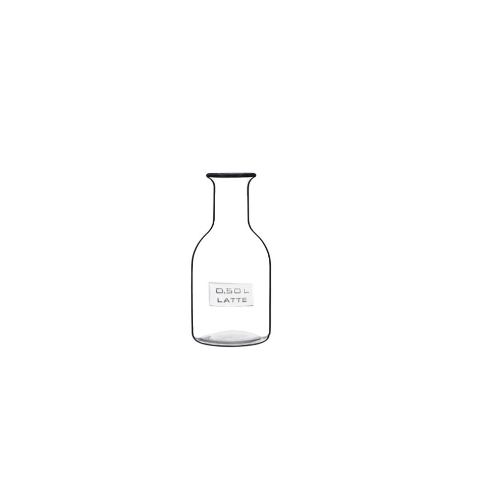 Bottiglia Optima Latte Luigi Bormioli in vetro trasparente lt 0,5