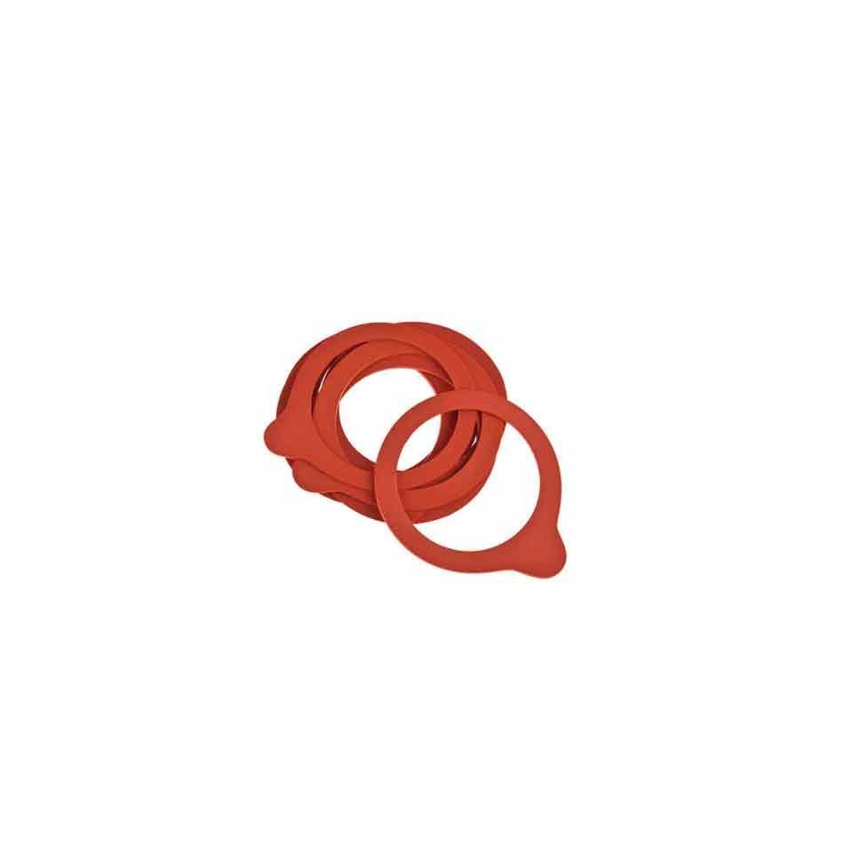 Guarnizione per vasetti Weck in gomma rossa