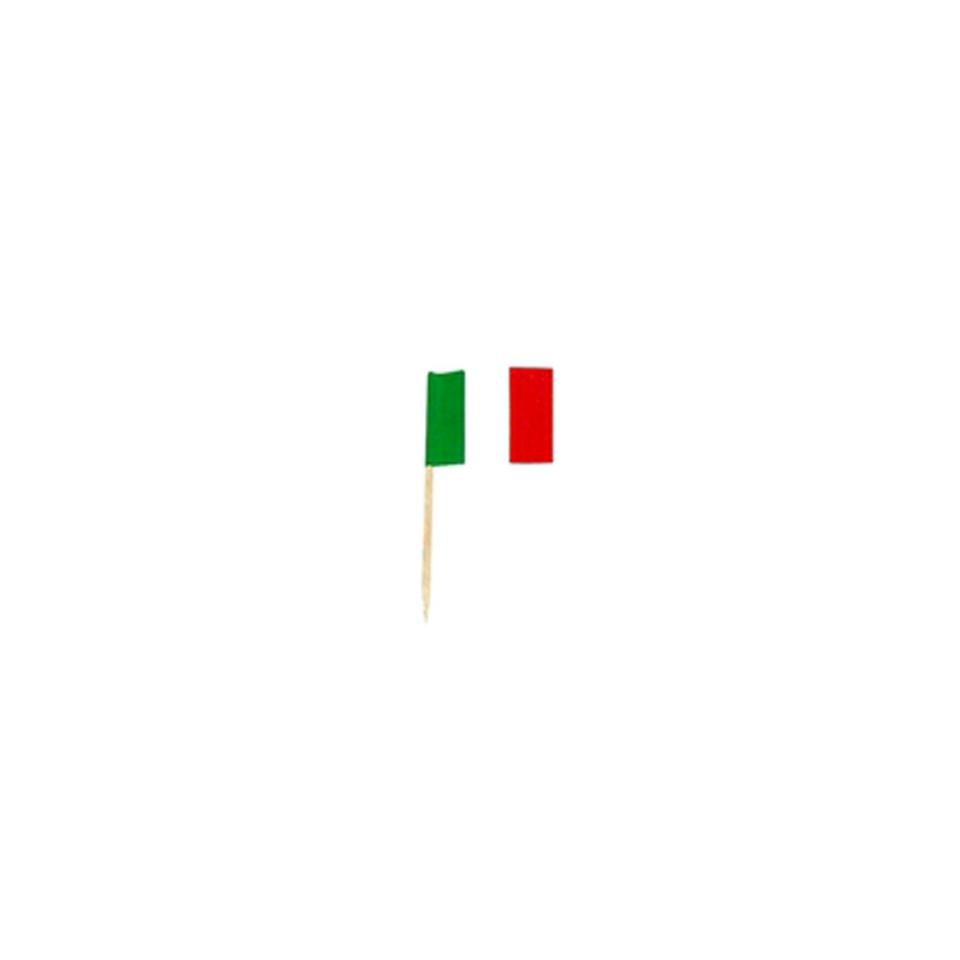 Stuzzichini bandiere italiane in legno cm 3,5 x 2,5