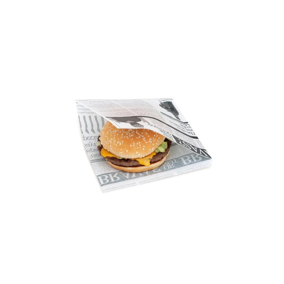 Sacchetti decoro Times per hamburger in carta cm 16x16,5