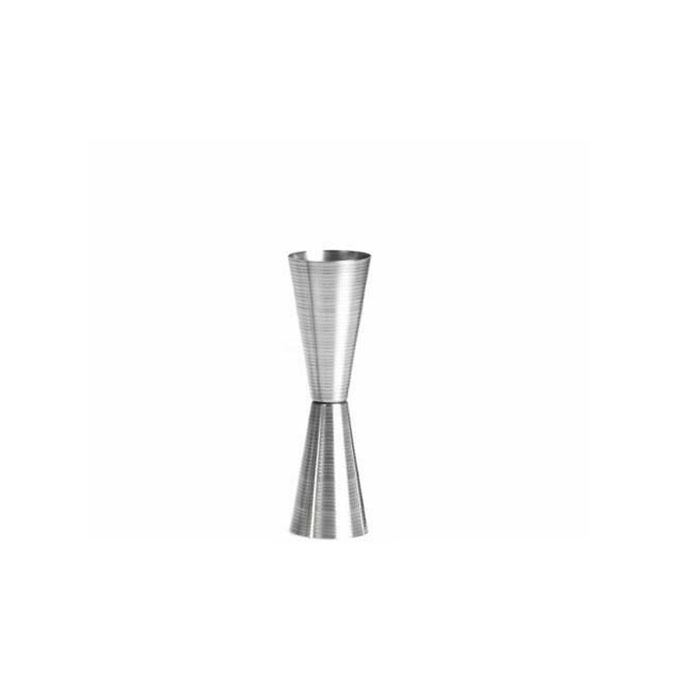 Misurino Jigger Slim in acciaio inox rigato lucido made in Italy