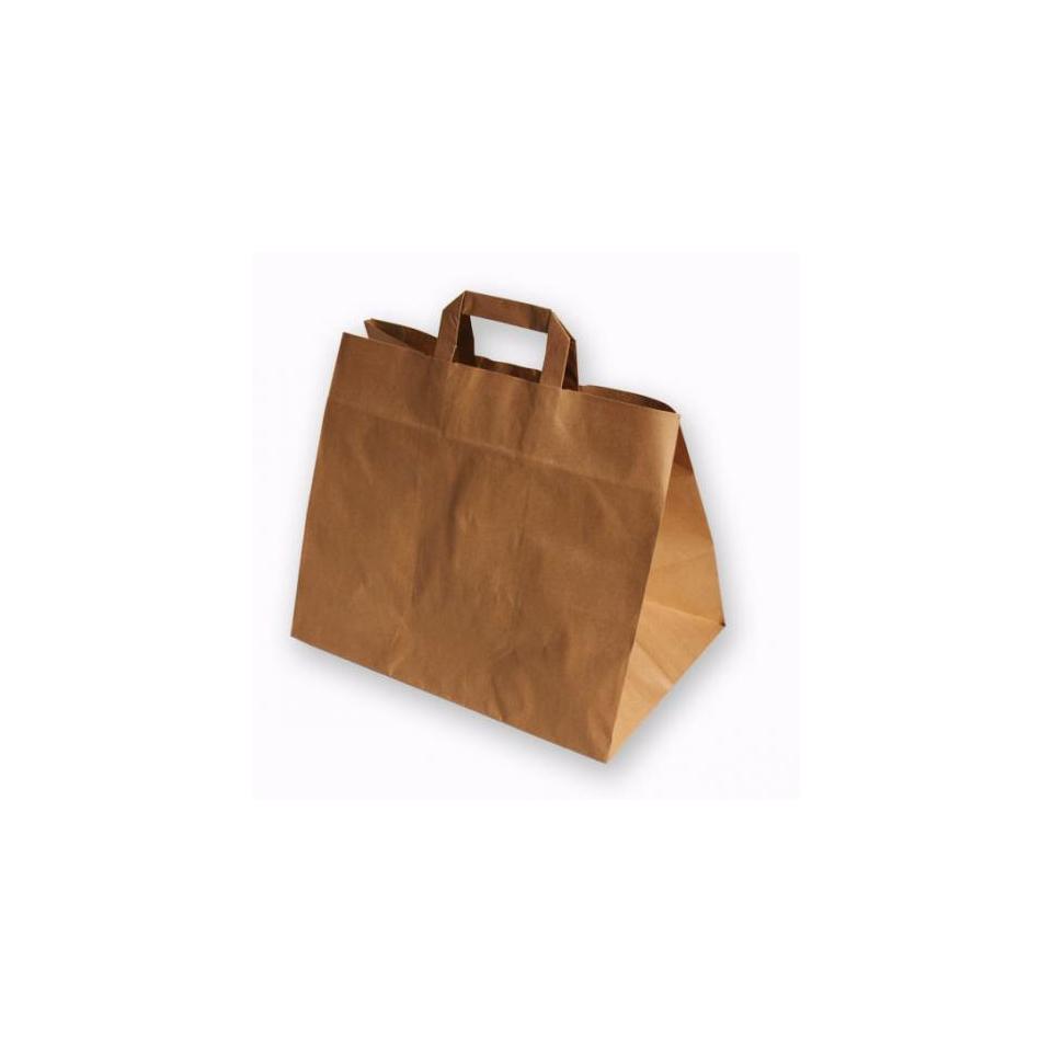 Shoppers Avana in carta marrone cm 32x20x23