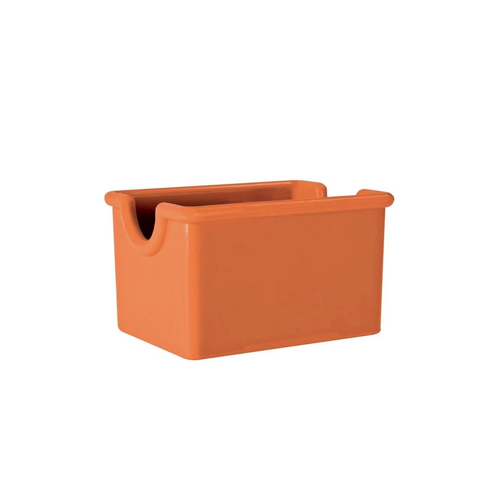 Porta bustine in san arancione cm 8,9X6,4X5,1