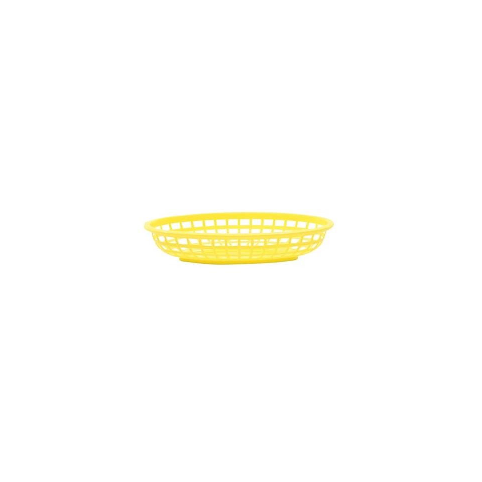 Porta pane ovale in polipropilene nero cm 24,1x15,1