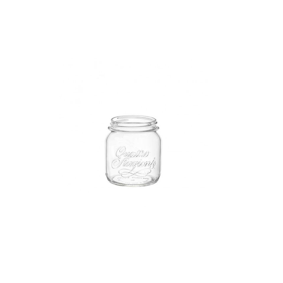 Barattolo 4 stagioni in vetro trasparente cl 70