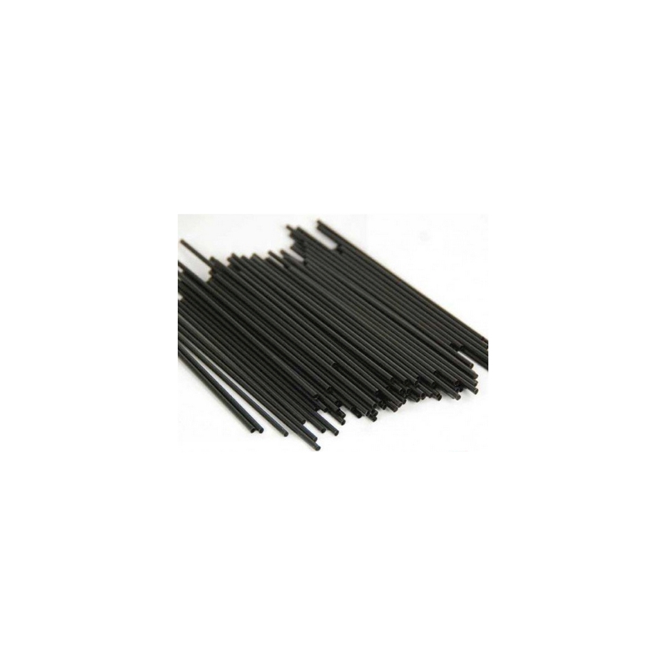 Cannuccia corta nera in plastica cm 12 x 0,3