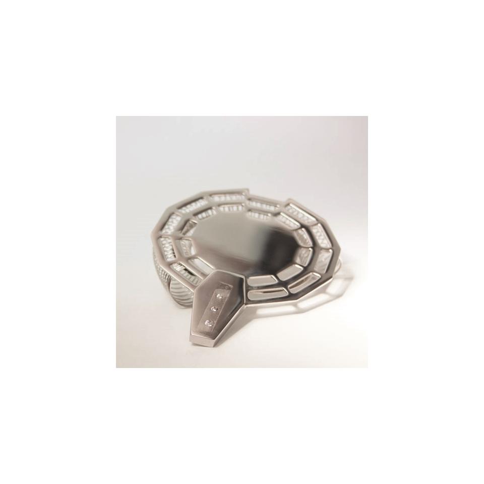 Colino strainer Magppie in acciaio inox con swarovski cm 10