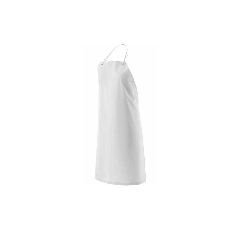 Grembiule con pettorina cerato bianco impermeabile cm 95x75
