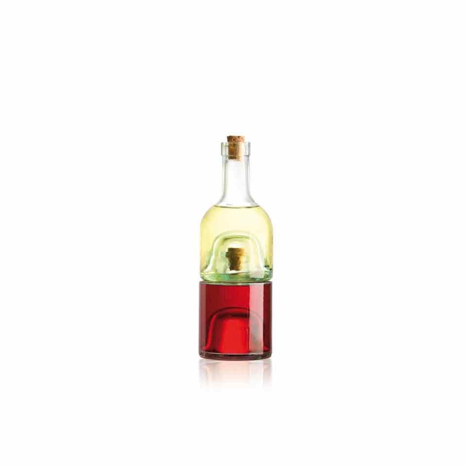 Set bottiglie olio aceto Eddingtons in vetro cl 25