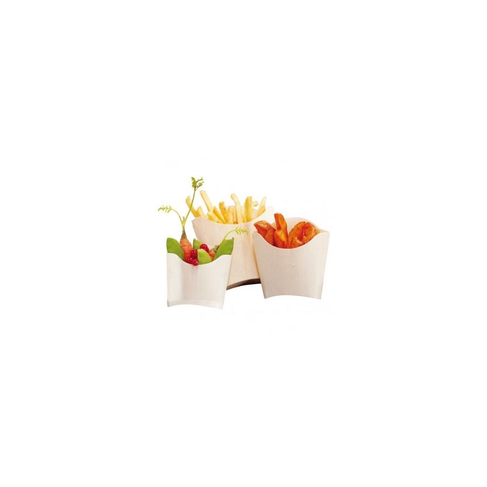 Contenitore per fritti in legno cm 13x18