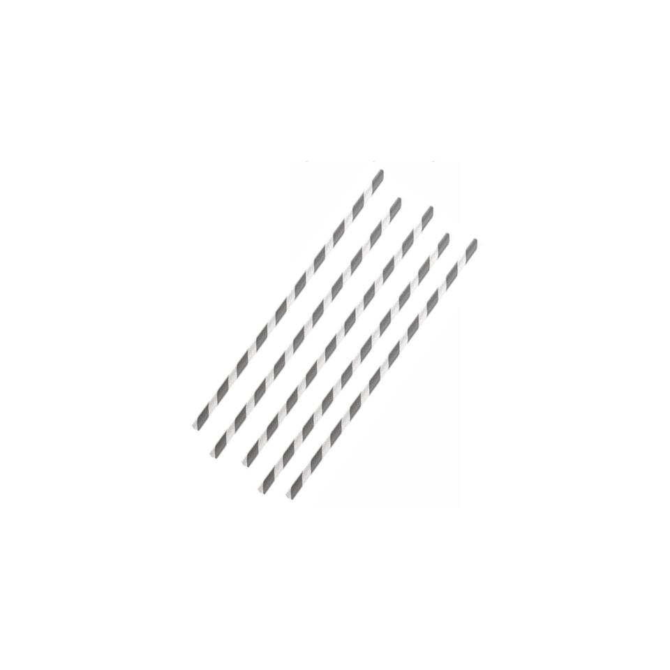 Cannucce biodegradabili con decoro a spirale in carta cm 20x0,6