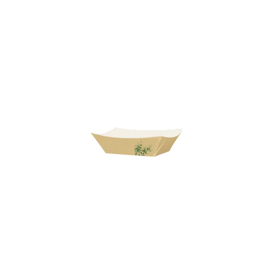 Barchetta con decoro feel green in carta marrone