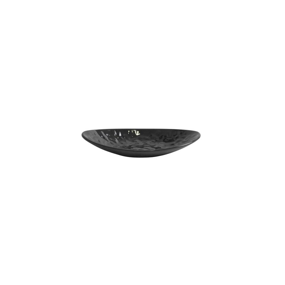Vassoio ovale Mamba in melamina nero cm 25.2x13.7x4.4