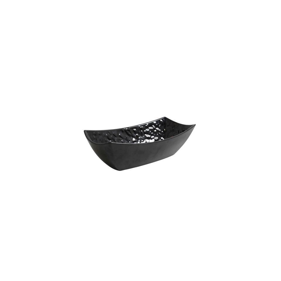 Coppa rettangolare Mamba in melamina nera cm 32.6x17.5x10