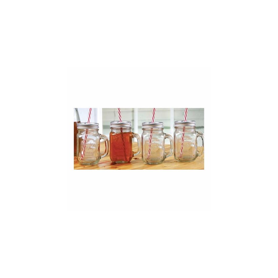 Bicchiere Country style con tappo e cannuccia cl 44,3