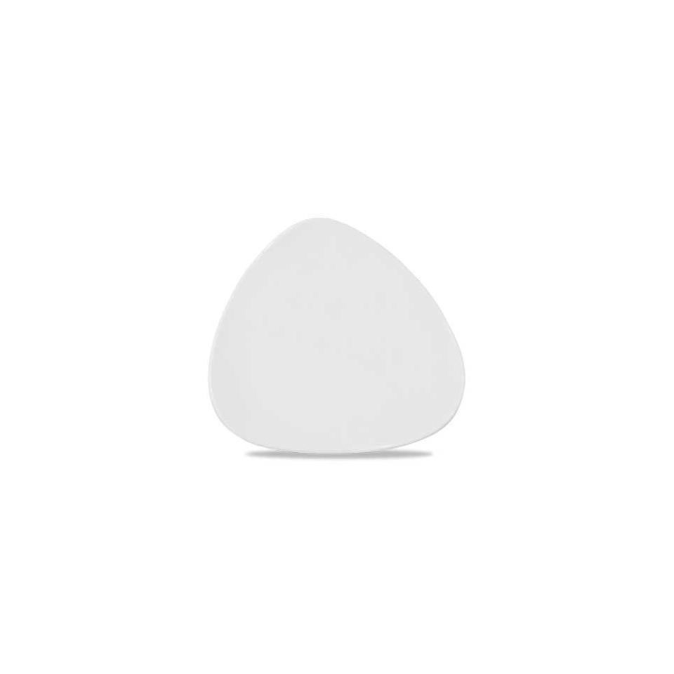 Piatto piano Triangle Churchill in ceramica vetrificata bianca cm 31