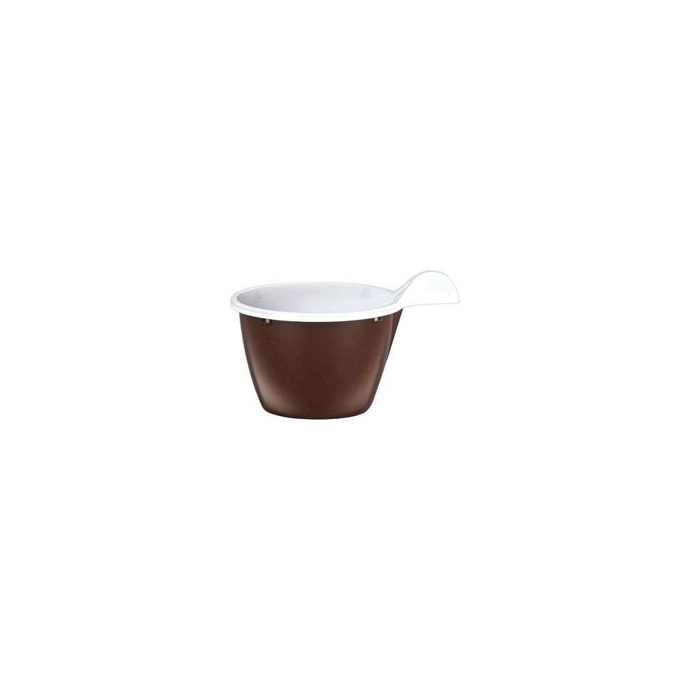Tazzina caffè con manico in polipropilene marrone cl 8