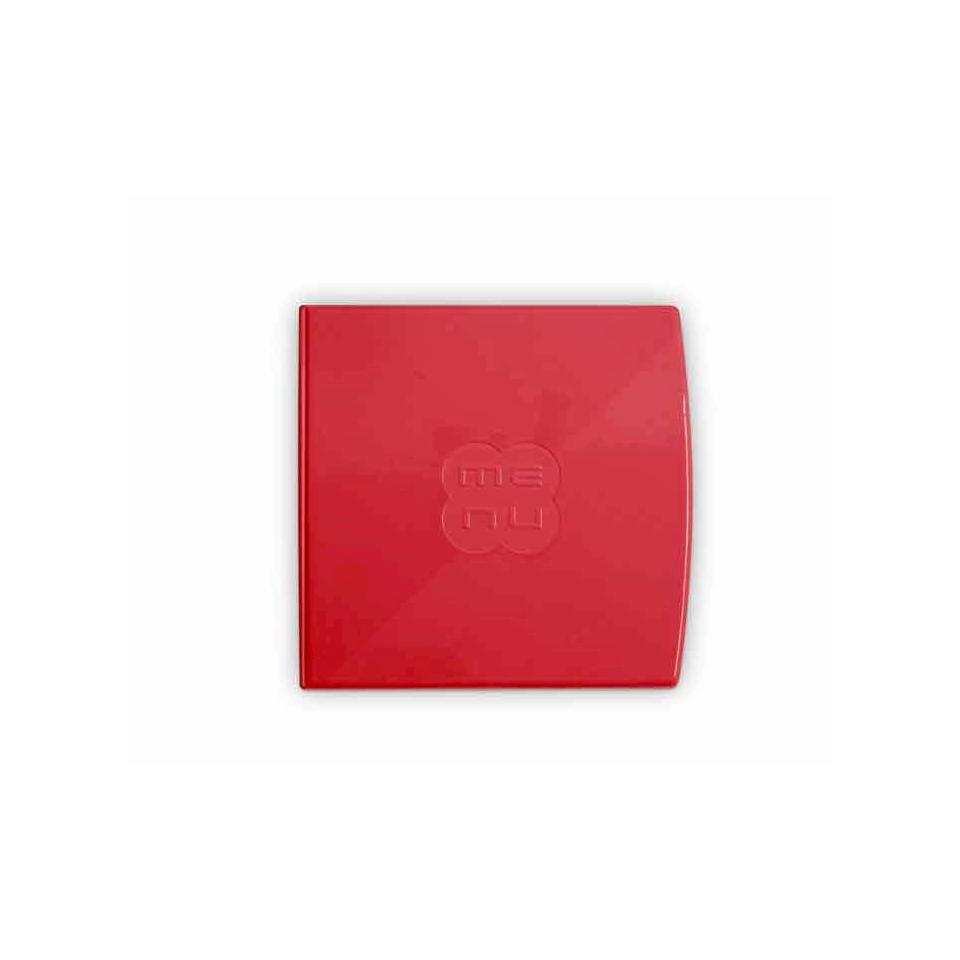 """Porta Menù Glossy quadro""""Menù"""" In plastica rossa Cm 23,6x23"""