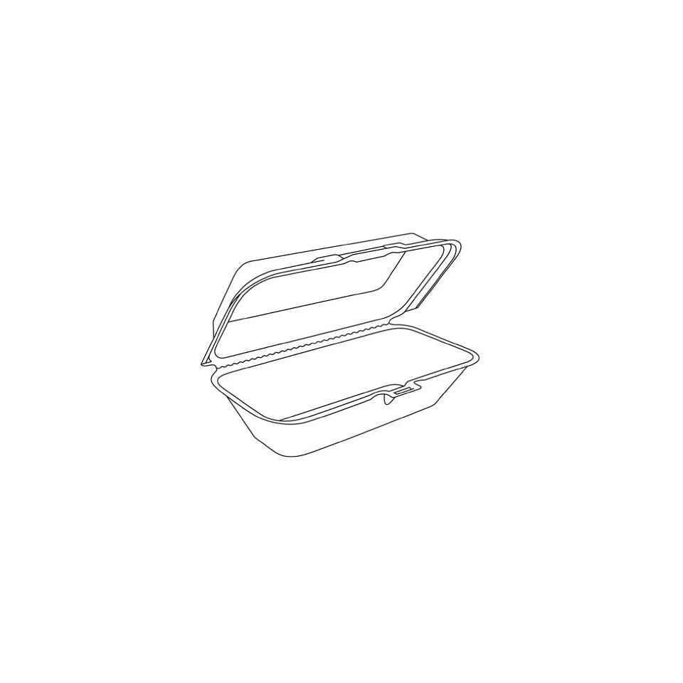 Contenitori hot dog in polistirolo cm 24x15x7
