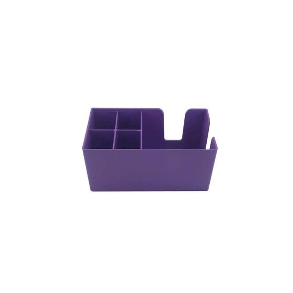 Bar caddy in policarbonato viola cm 24 x 14,5 x 10,5