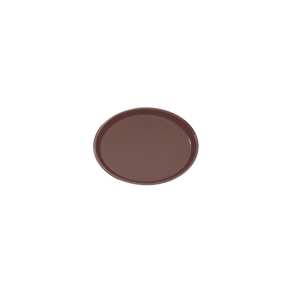 Vassoio antiscivolo ovale in fibra di vetro marrone cm 55,5