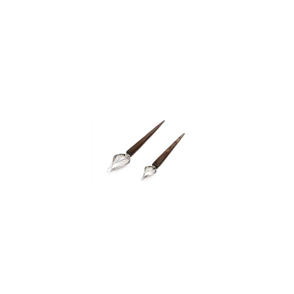 Cucchiai decoro in acciaio e legno - Spoon Decor