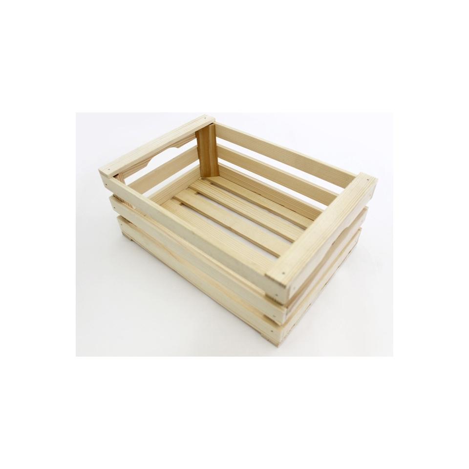 Cassetta a listelli in legno cm 25