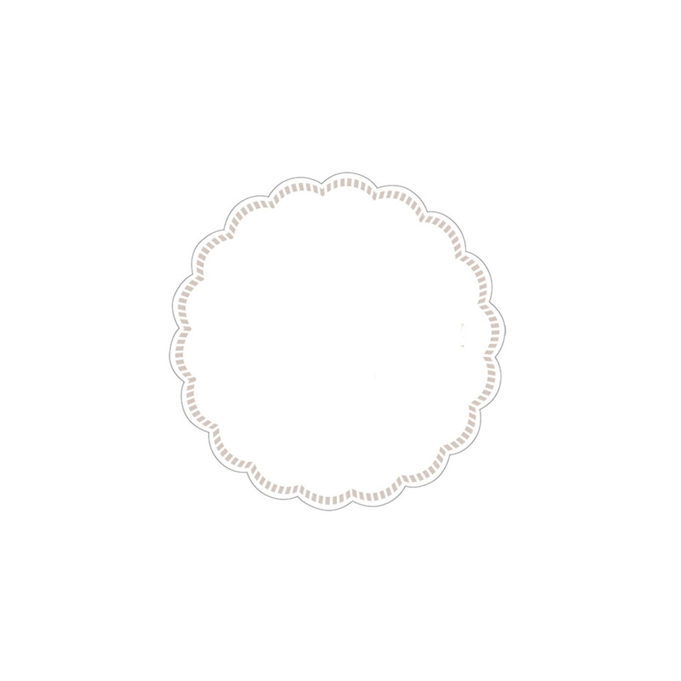 Sottobicchieri in carta bianca e oro cm 9