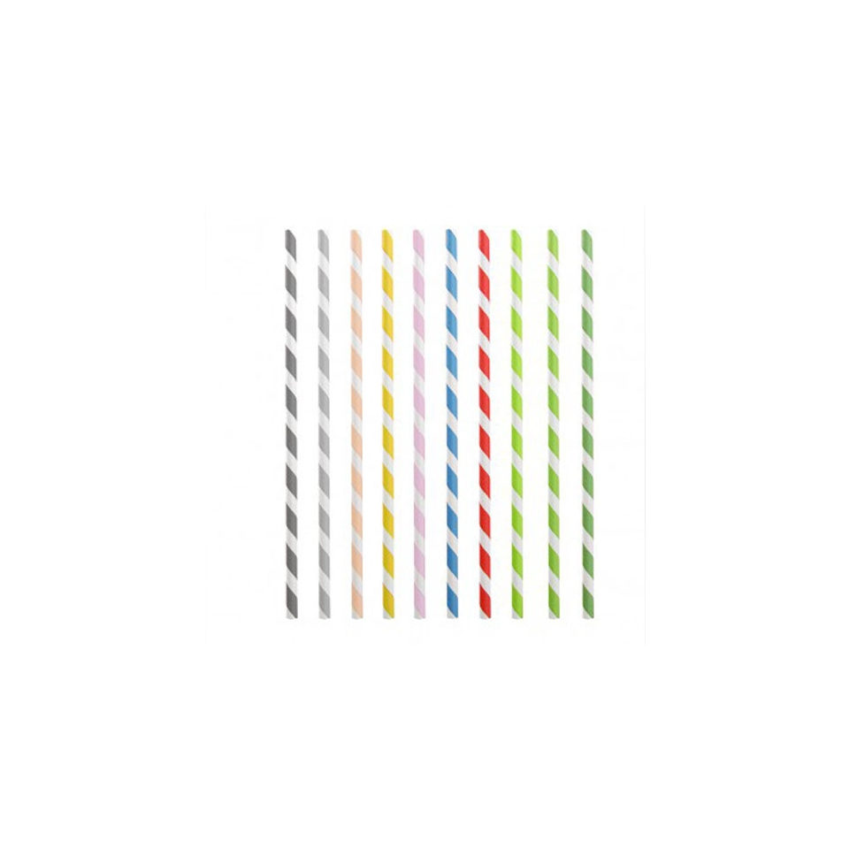 Cannucce biodegradabili in carta colorata cm 20
