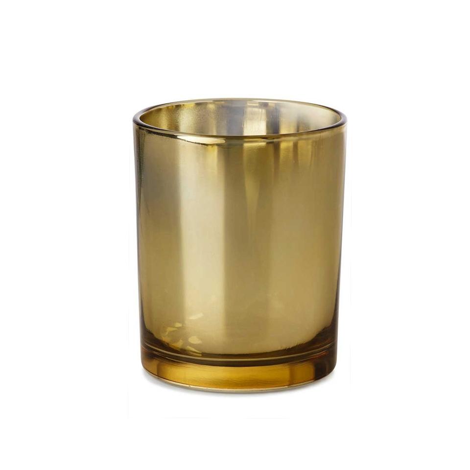 Portacandela Glow in vetro oro cm 12x8,5
