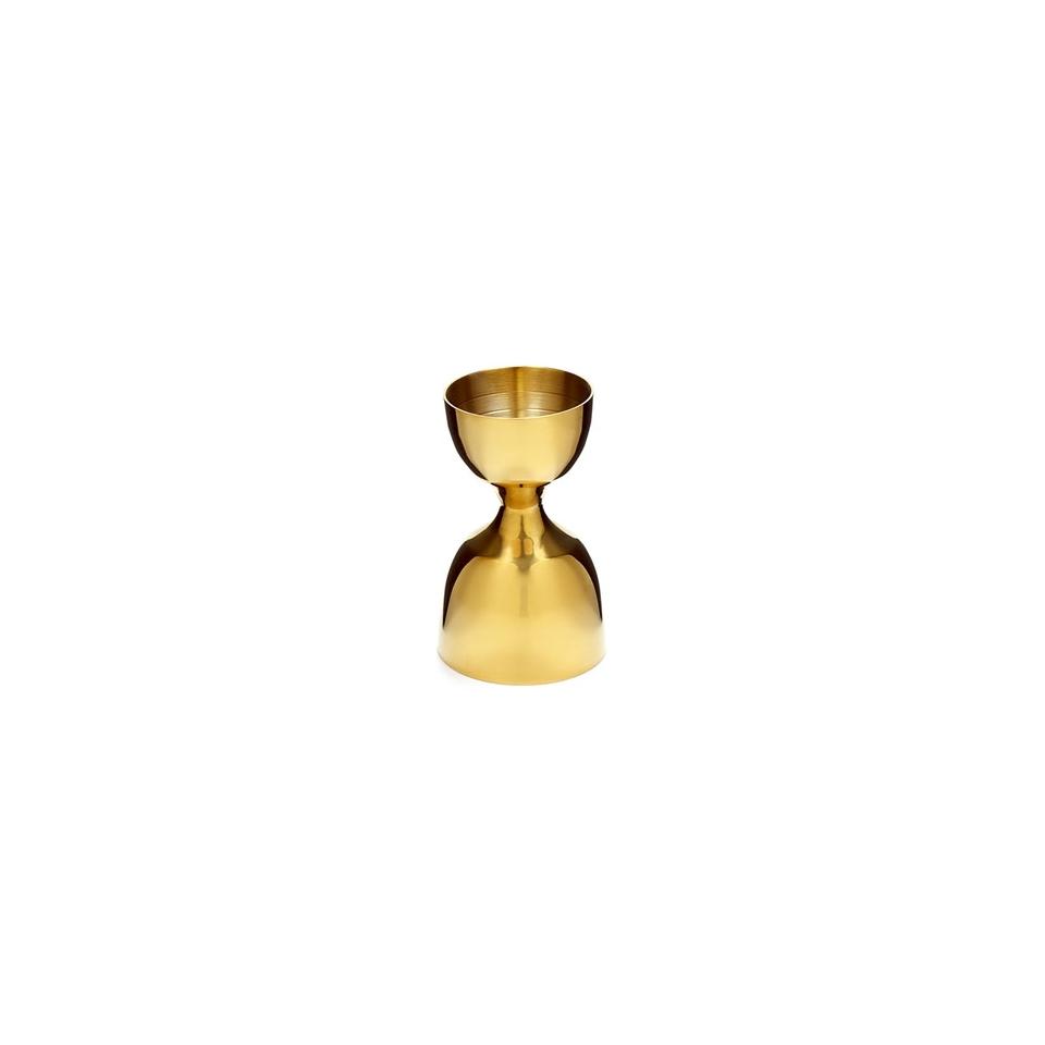 Jigger Leopold in acciaio inox dorato cm 8,5