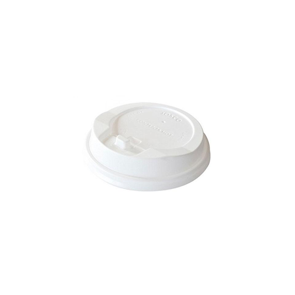 Coperchio monouso con foro Duni per bicchieri da asporto in plastica cm 8,3