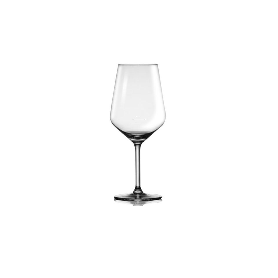Calice vino Paris con tacca in vetro