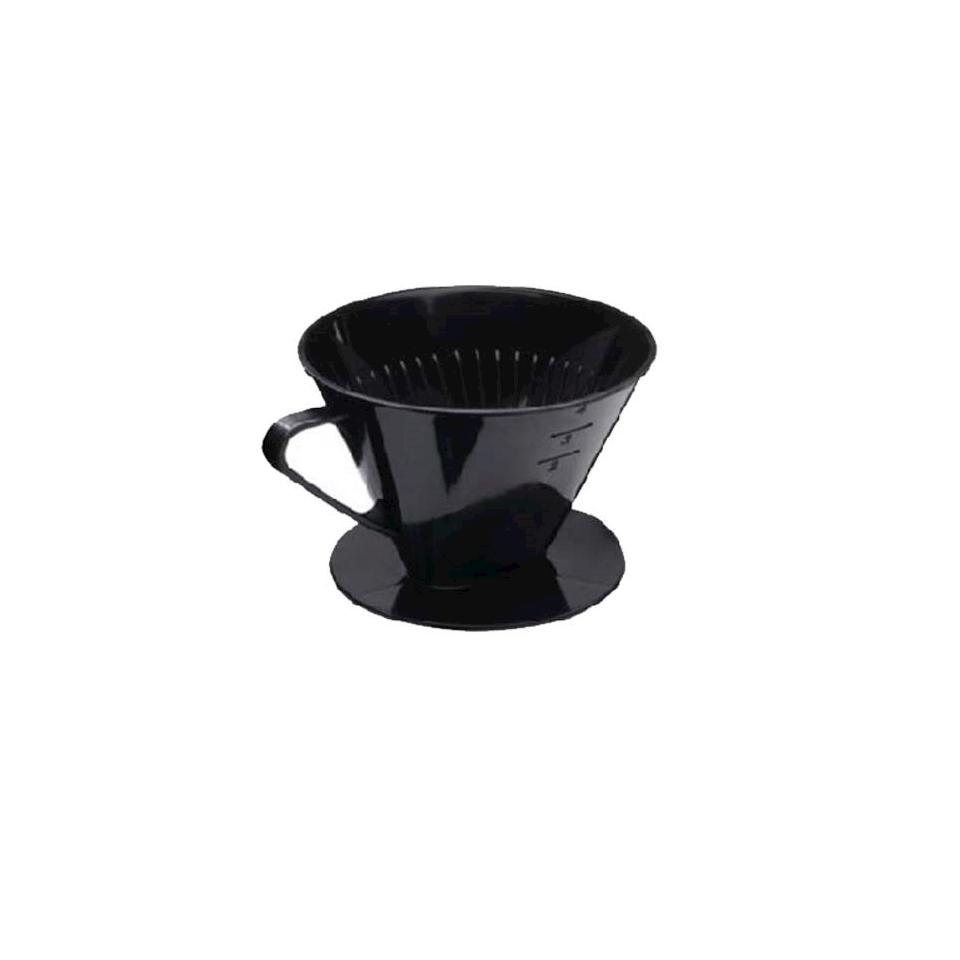 Filtro 2 tazze in plastica nera cm 11x8,5