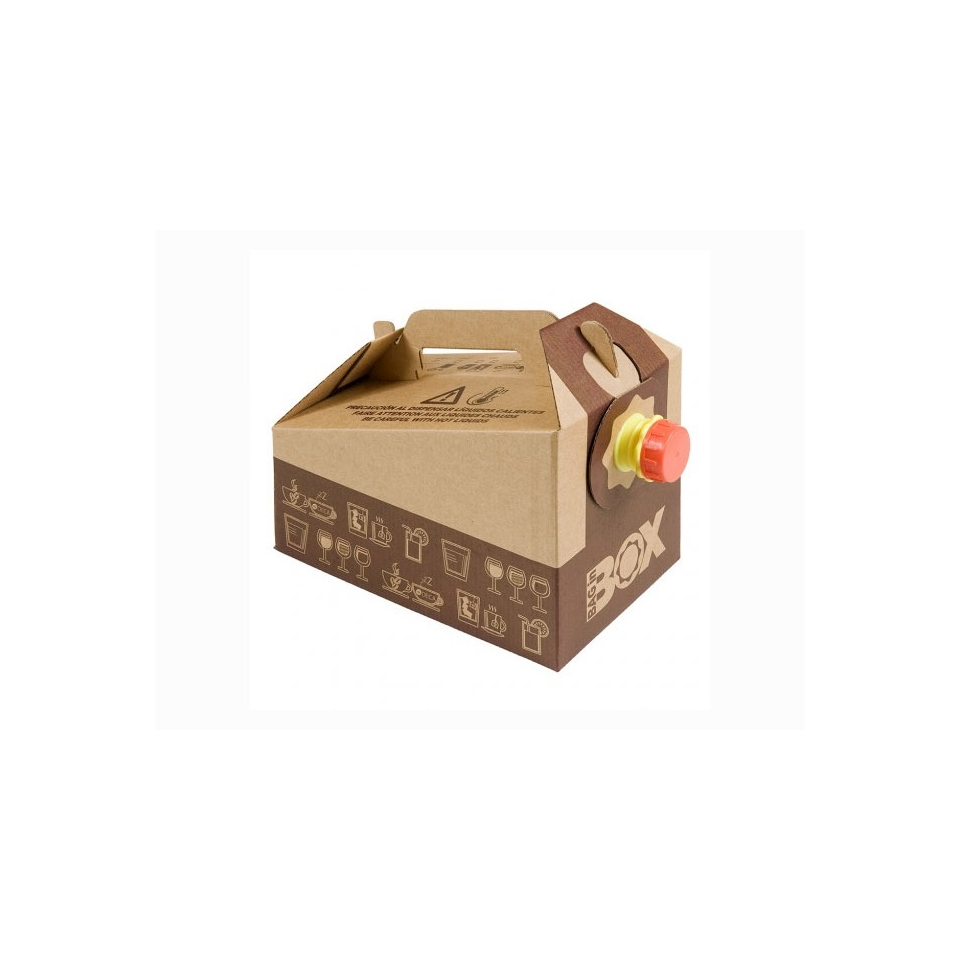 Contenitore per bevande in cartone con bag interna lt. 5