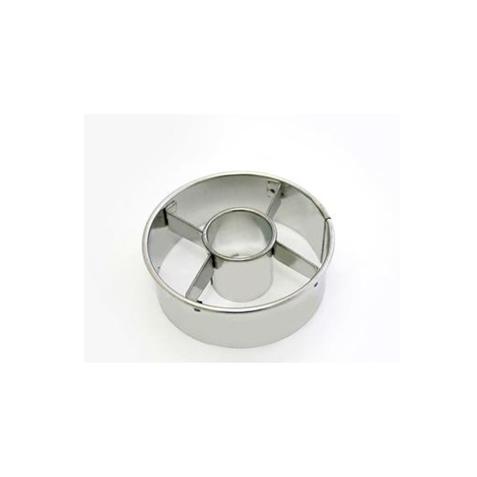 Stampo canestrello liscio in acciaio inox cm 10
