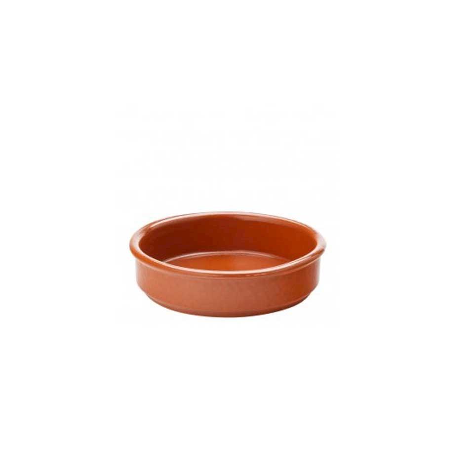 Coppetta tapas in porcellana marrone cm 6