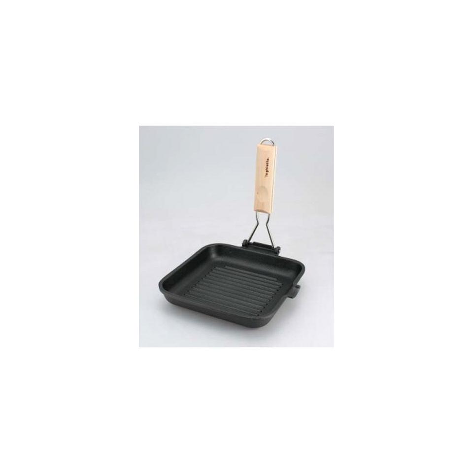 Bistecchiera quadrata La Ghiotta in alluminio pressofuso cm 20 x 20