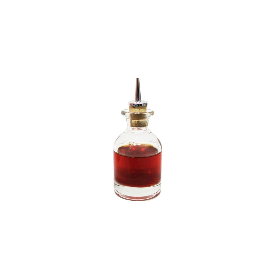 Bottiglia angostura con tappo in vetro cl 10