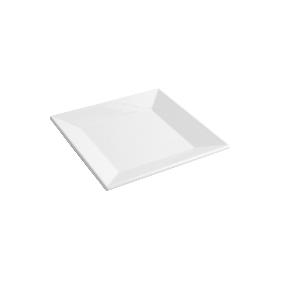 Piatto quadro Ming in melamina bianca cm 20,5x20,5