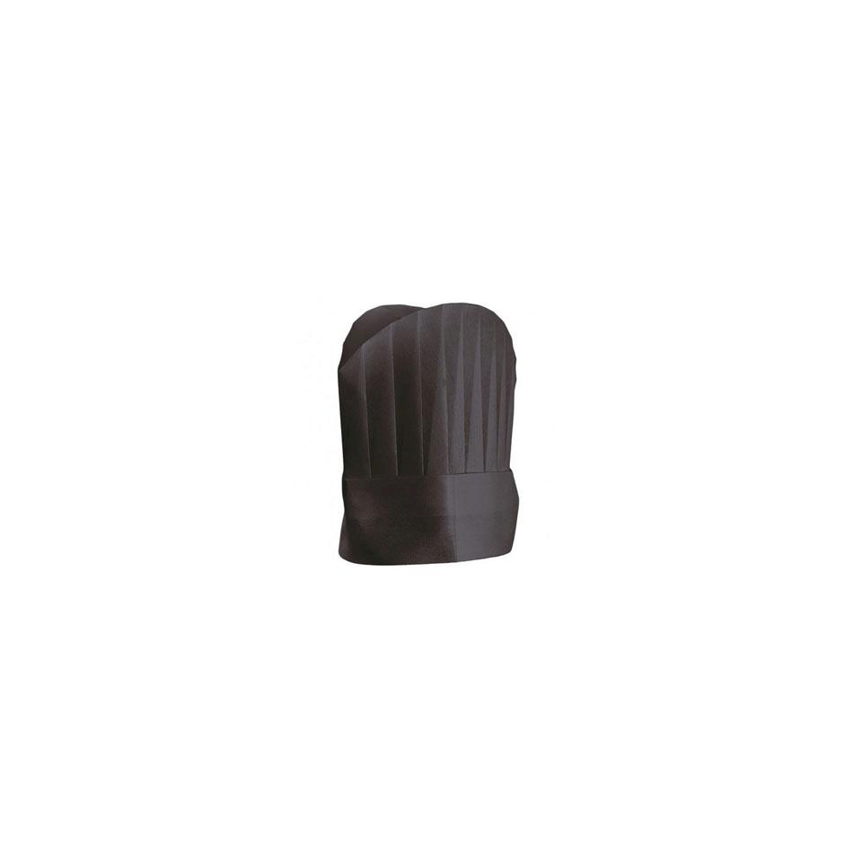 Cappelli cuoco in airlaid nero cm 25