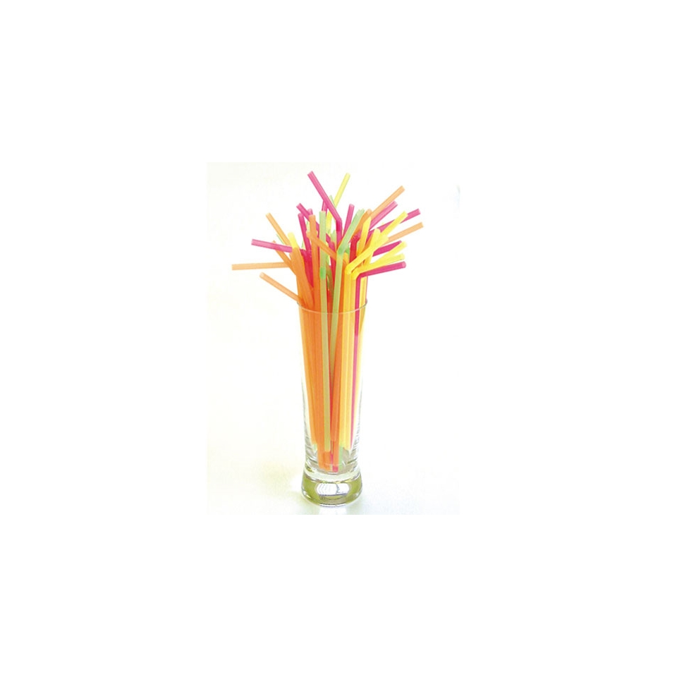 Cannucce Fluo in plastica colori assortiti cm 44