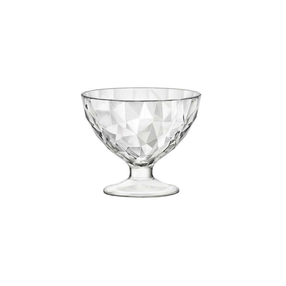 Coppetta Diamond mini in vetro trasparente cl 22,5
