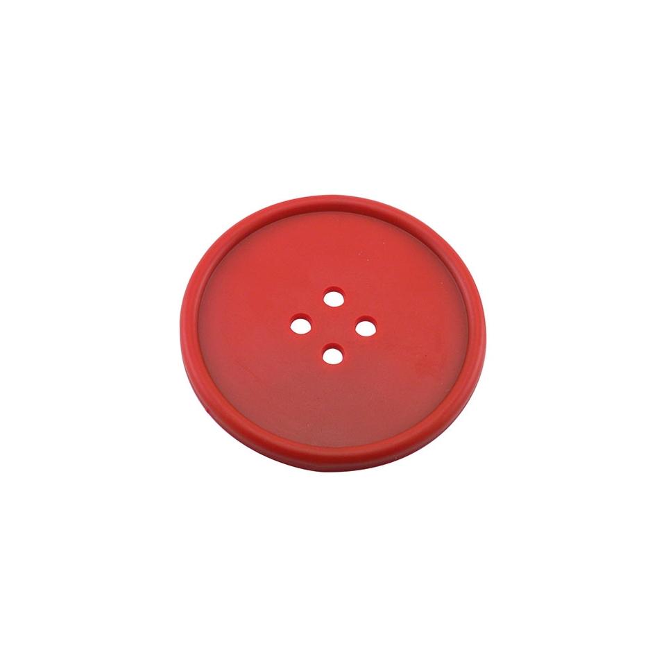 Sottobicchieri bottone in gomma rossa cm 10
